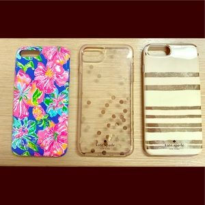 3 iPhone 7 Plus cases (Lilly Pulitzer/Kate Spade)